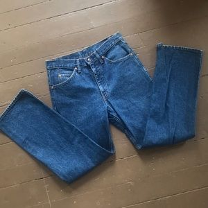 Vintage Levi's dark wash blue jeans made in USA